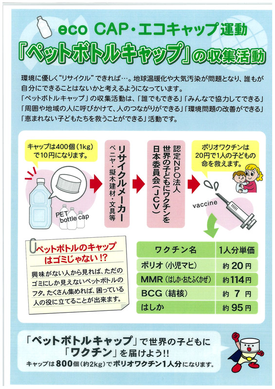 NPO法人エコキャップ推進協会 ...